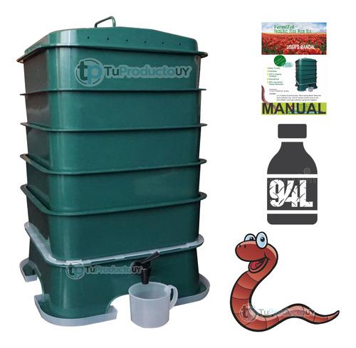 Imagen 1 de 2 de Compostera Lombriz Compost 5 Bandejas Organico