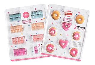 Set De 2 Moldes Placas Donitas Y Chocolatines Parpen - Cc