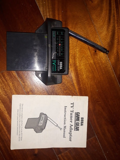 Sega Game Gear Tv Tuner Con Manual. Escucho Oferta