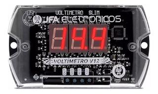 Jfa V12 Slim - Medidor Bateria Digital Led Vermelho Ac Full