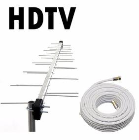 Antena Externa Digital Diglogpró + Cabo 20m +2 Conector Rf