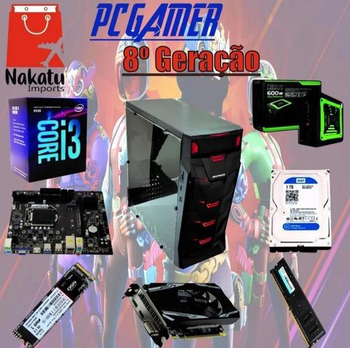 Imagem 1 de 1 de Pc Gamer 8a Geração + I3 8100 + H310 + Rx 550 4gb + Nvme 1