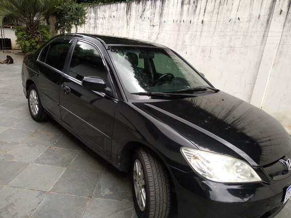 Honda Civic, Cambio M. 1.7, Preto, Direção, Vidro, Alarme T.