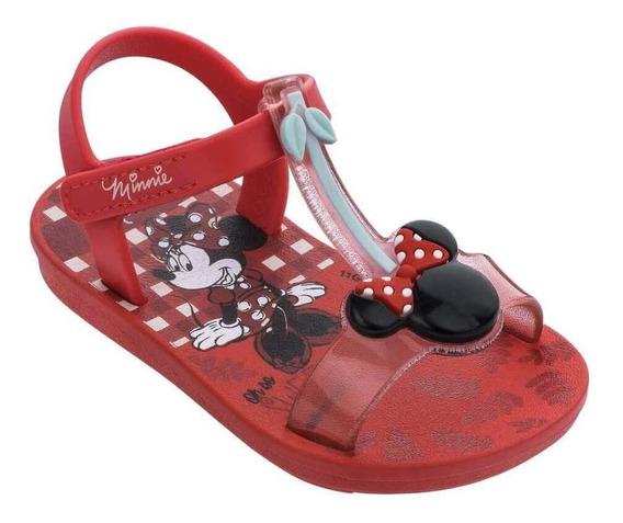 Sandália Baby Infantil Grendene Minnie Cherry 22142
