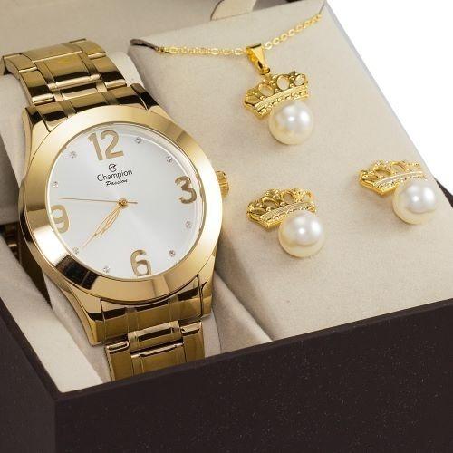 Relógio Feminino Champion Ch24268d Com Brinde Ouro 18k