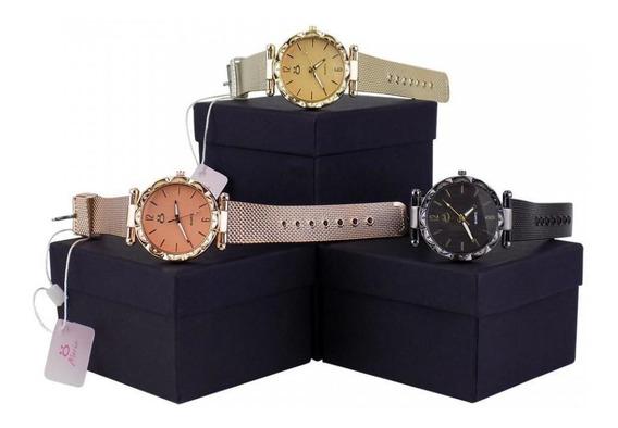 Kit 3 Relógio Feminino Moda Orizom