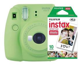 Câmera Instantânea Instax Fujifilm Mini 9 Verde+ 10 Filmes