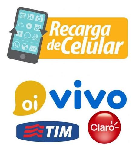 Recarga Celular Pré Pago Todas As Operadoras (online)
