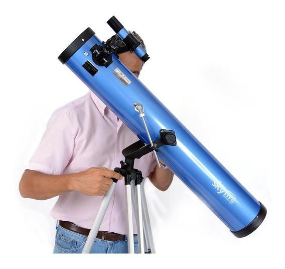 Telescópio 114mm Refletor Alto Padrão Skylife Deepsky + Cd - Skylife Marca Especialista Em Produtos Astronômicos