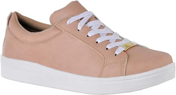 Sapato Tenis Casual Branco Basico Liso Confort 4030