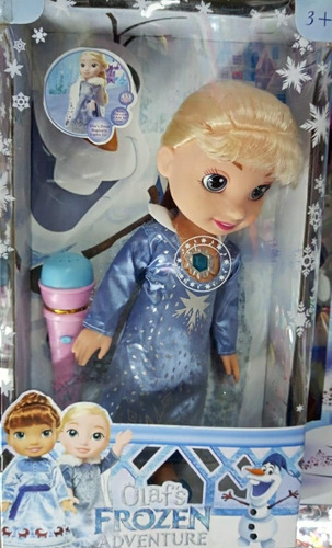Muñeca Frozen Musical + Micrófono / Niñas.