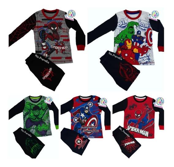 Pijamas De Super Héroes Spiderman 100% Algodon