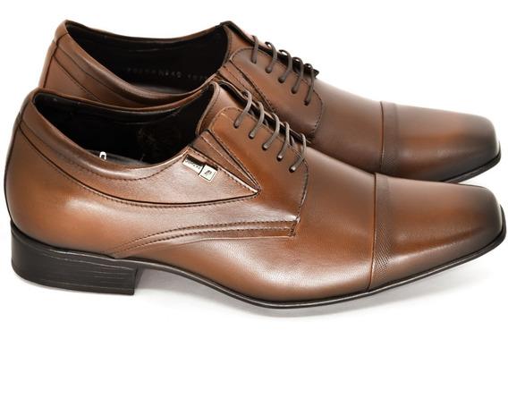 Sapato Masculino Jota Pe Couro Salto Interno 6,5cm Mais Alto
