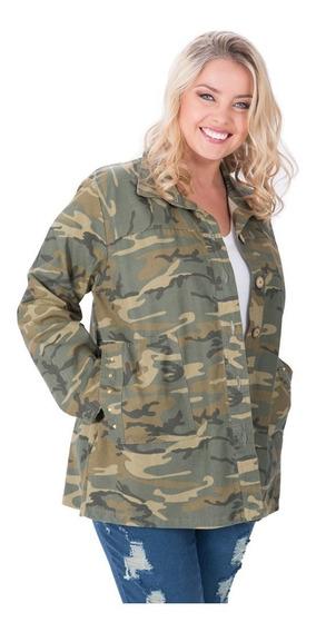 Camisaco Portofem Camuflado Con Tachas - Talles Grandes