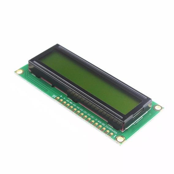 Display Lcd 16x2 1602 Com Back Verde Kit Com 10 Pecas