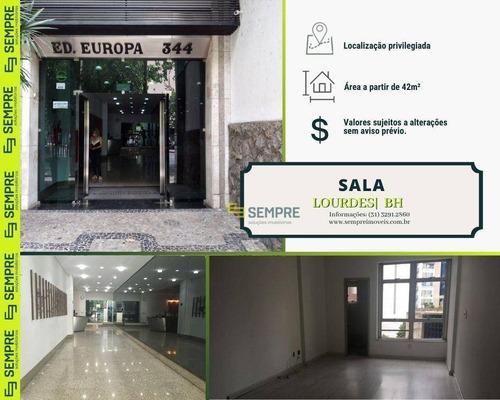Imagem 1 de 19 de Salas À Venda - Lourdes - Belo Horizonte/mg - Sa0094