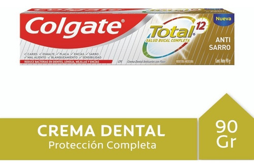 Crema Dental Colgate Total 12 Anti Sarro 90 G