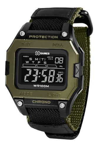 Relógio X-games Masculino Digital Xgppd139 Pxex Verde Preto