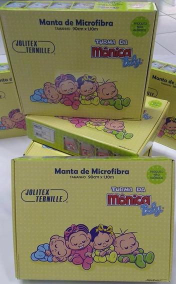 Manta De Microfibra Turma Da Monica Jolitex - Bebe Cobertor