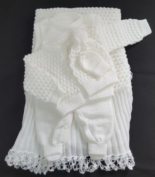 Saída Maternidade Tricot Branco