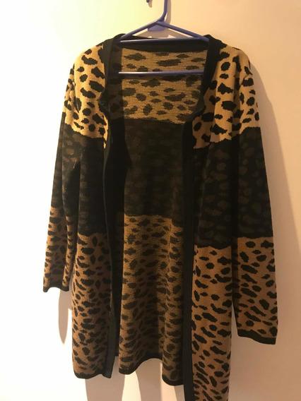 Saco Leopardo Impecable Talle L