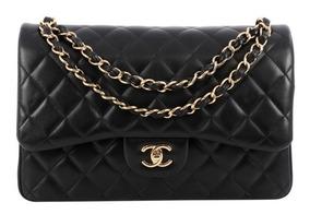 Bolsa Chanel Classic Flap Jumbo Lambskin Na Caixa