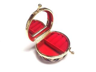 03 Caixinhas Para Alianças Anéis Porta Joias Com Espelho