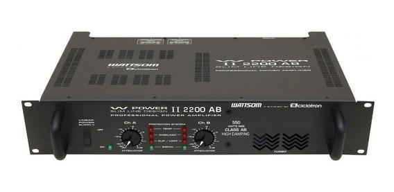 Potência Ciclotron W Power 2200 500w Rms
