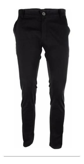 Pantalon Farenheite De Vestir Chupin Hombre Negro