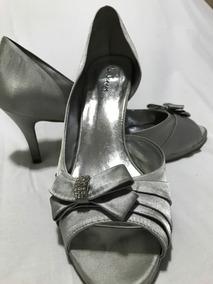 4014a281f Sapato De Festa Peep Toe Prata ( Prego ) - Sapatos com o Melhores ...