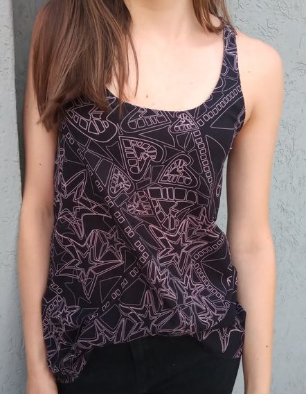 Remera Jazmin Chebar Talle 1 Negra Y Lila - O.mar2011