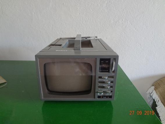 Mini Tv Antiga Deluxe Mini E Rádio / Modelo Ct-205