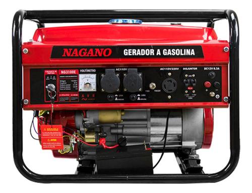 Gerador portátil Nagano NG3100E 3000W monofásico com tecnologia AVR 110V/220V