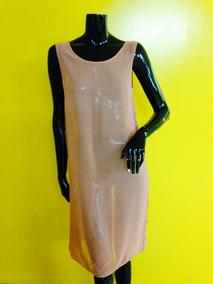 Vestido Traslucido Palo Rosa Talla S