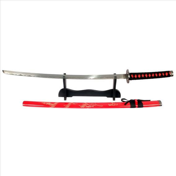 Espada Katana Azul 100 Mod Sa022bl + Suporte De Mesa