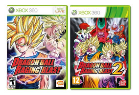 Dragon Ball Raging Blast 1 E 2 Kit 2 Jogos Xbox Desbl0queado