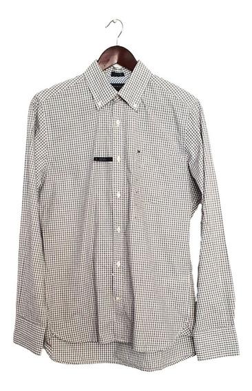 Camisa Tommy Hilfiger Custom Fit Gris De Cuadros