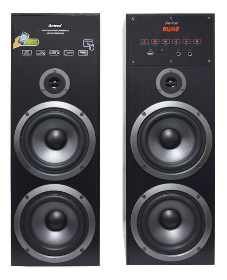 Home Theater Bluetooth 480w Torre Usb Caixa Som Amplificada