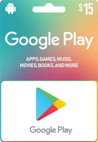 Google Play Store 15 Usd Código De Recarga