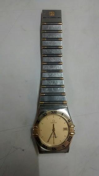 Reloj Omega Constelation Caballero. Oro Acero Mov. Cuarzo