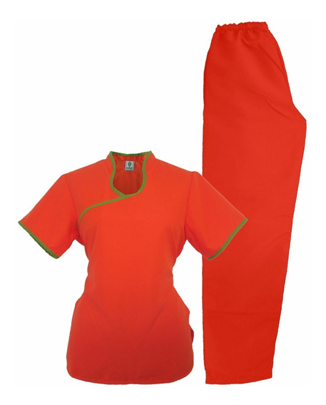Conjunto Dynasty Cd13 Naranja/manzana Uniforme Medico