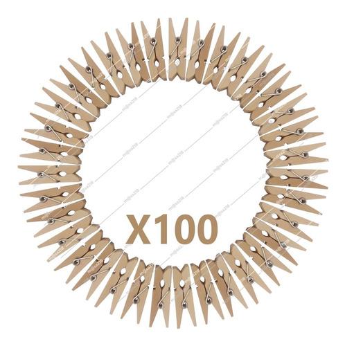 Mini Palillos Madera Natural 100 Unidades. 3,5cms.