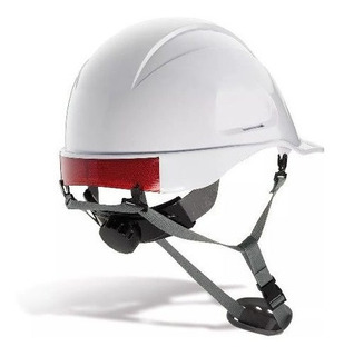 Casco Ingeniero Blanco Dielectrico Con Reflectivo Barbuquejo