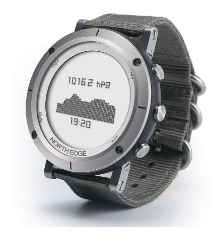 Relógio Altímetro Barômetro Termometro North Edge 50m