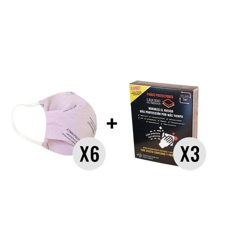 Atom-protect Conicet X 6 + Toallas Liquido Guardian X 3