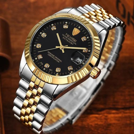 Relógio Original Tevise Mecânico Automático Luxo
