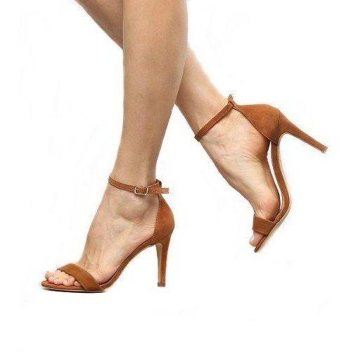 Sandália Salto Alto 9cm Tira Slim Fina Feminina Clássica