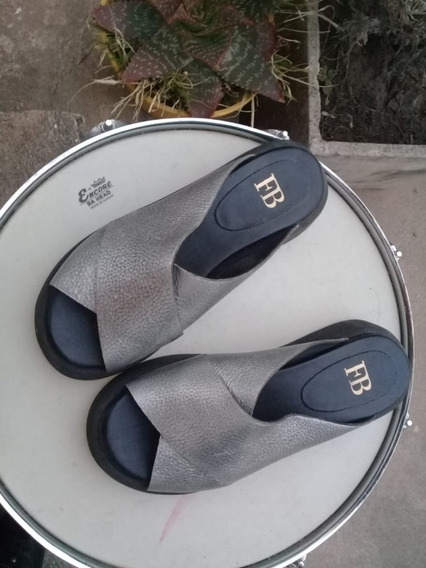 Sandalias Febo Plata Como Nuevas Impecables!