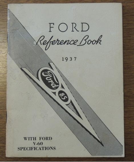 Livro Manual Do Proprietário (reference Book) Ford 1937