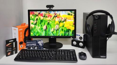 Imagem 1 de 9 de Kit Core I3, Headset Usb, Webcam, Wi-fi, Monitor 17
